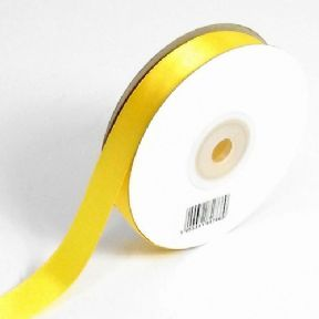 Yellow Double Faced Satin Ribbon. 3mm x 50meters Per Reel